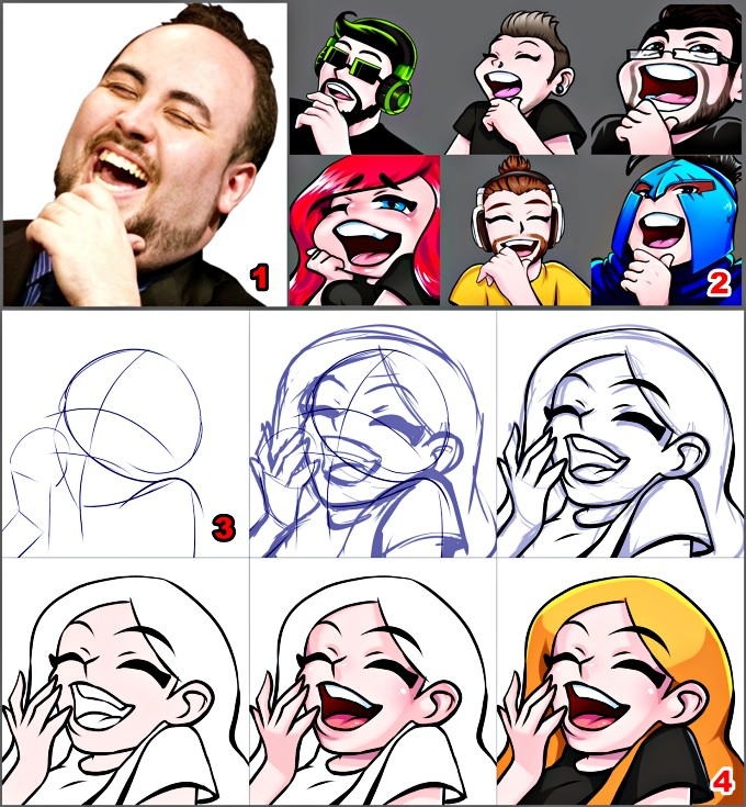 How to make twitch emotes - drawing from scratch